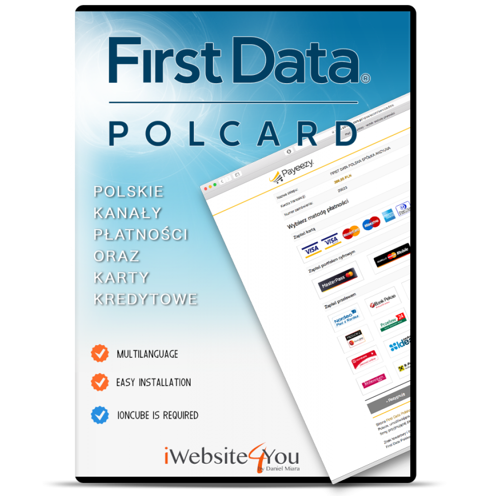 First Data Polcard OpenCart 2