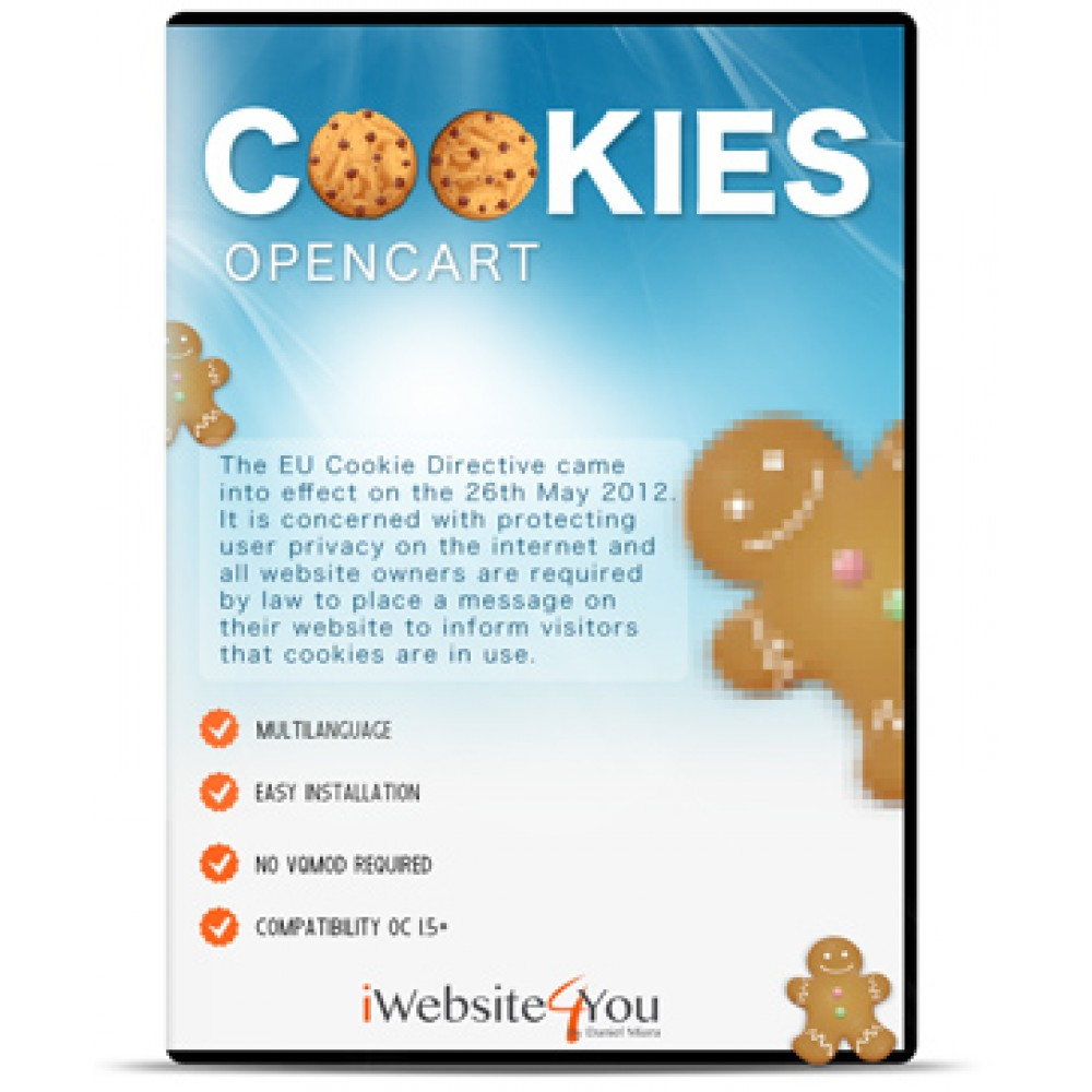 EU Cookie / Ciasteczka OpenCart 2