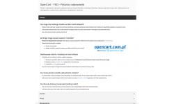 FAQ Pytania i odpowiedzi moduł OpenCart