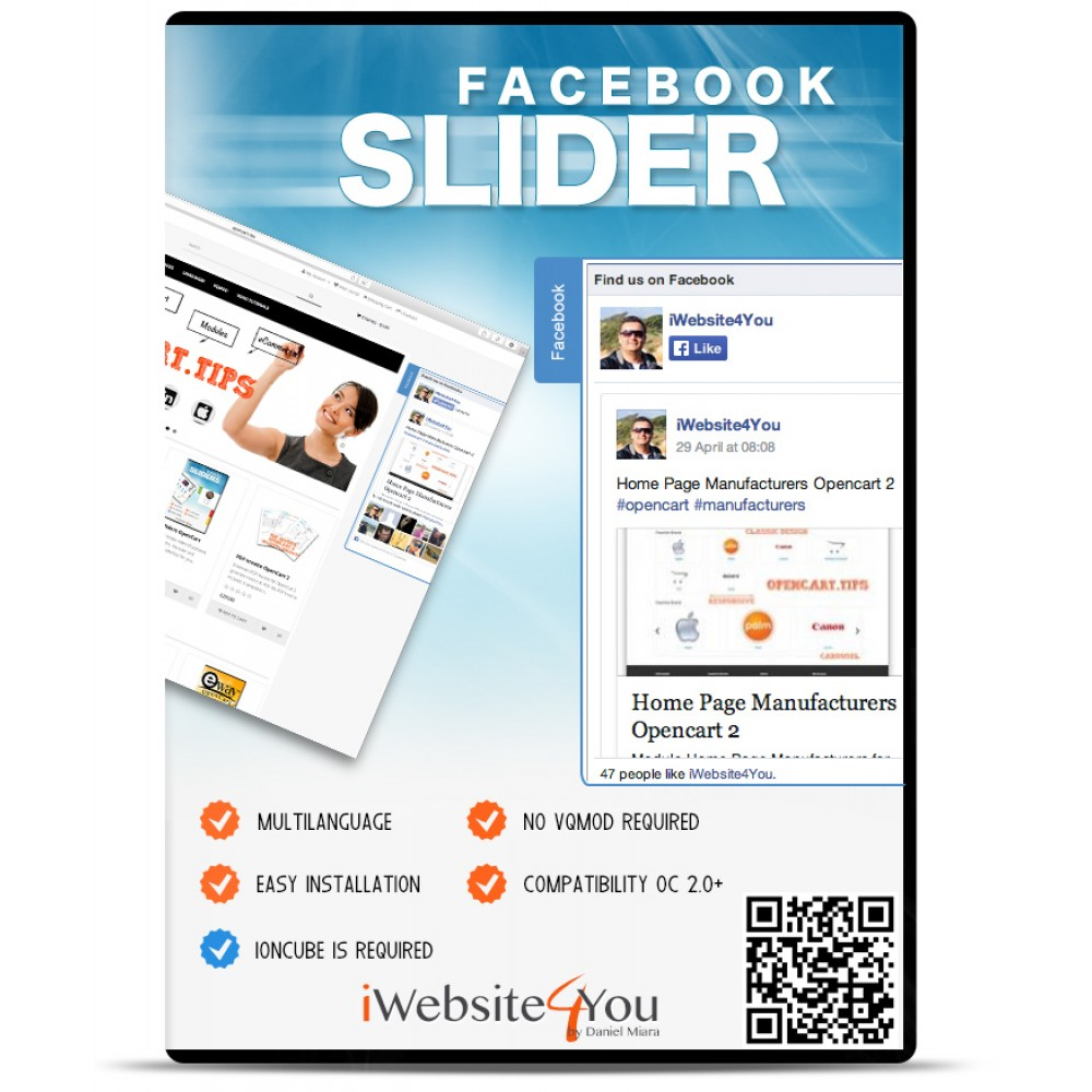 Facebook Slider Light OpenCart 3