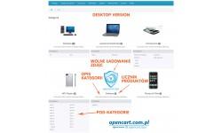 Kategorie na stronie głównej OpenCart
