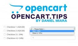 Procent dla opcji ceny Opencart 2