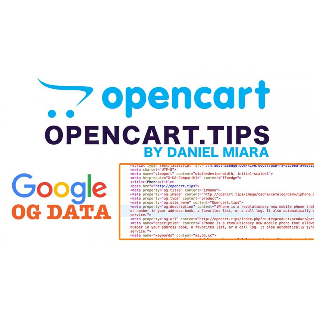 Google OG data +Snippet Opencart 2