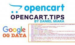 Google OG data + Snippet oraz Twitter Opencart 2