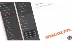Brakujące menu w OpenCart