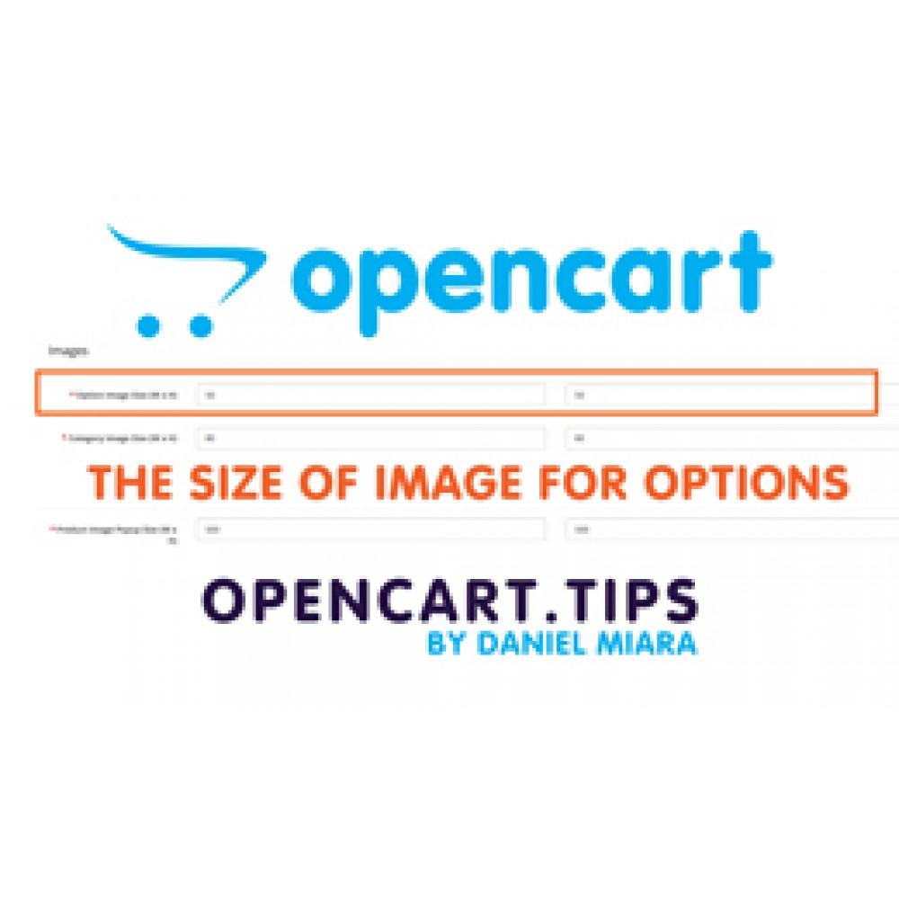 Rozmiar zdjęć w opcjach Opencart