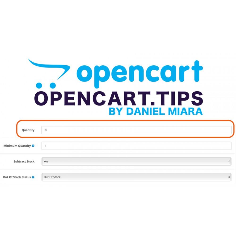 Ukryj produkt gdy brak na magazynie Opencart 2