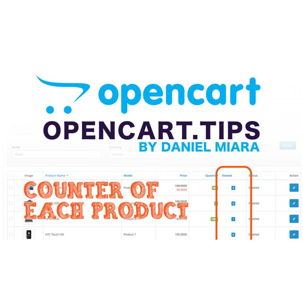 Licznik popularności produktu Opencart 2