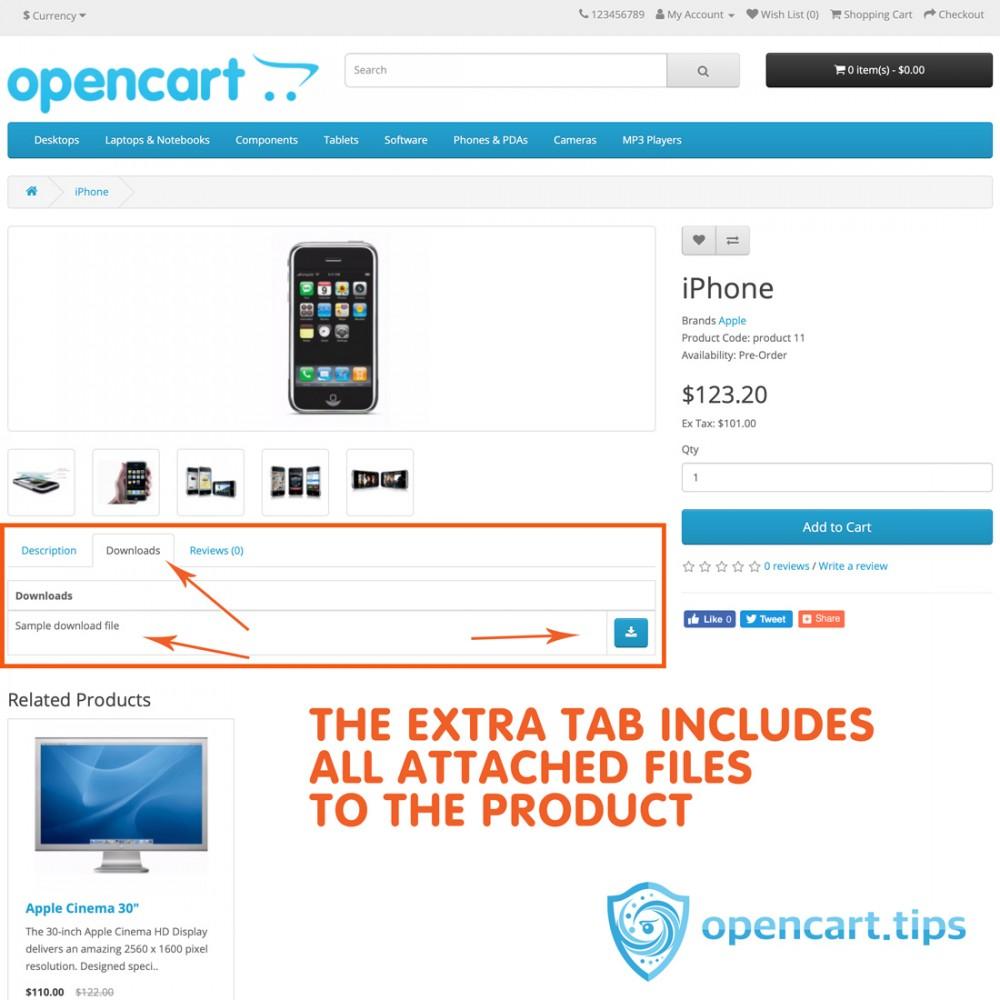 Pobierz załączone pliki do produktu Opencart 2