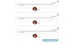Opinie klientów karuzela OpenCart