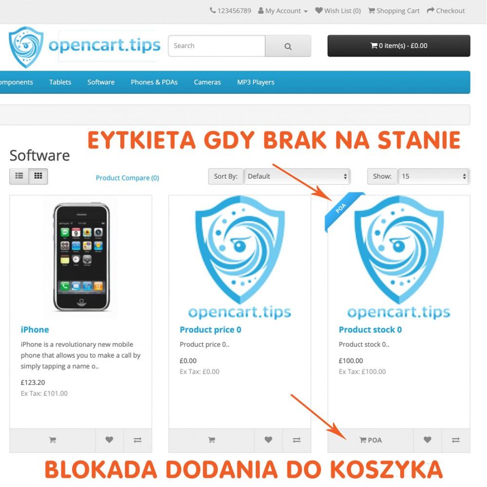 Produkt na zamówienie OpenCart 2