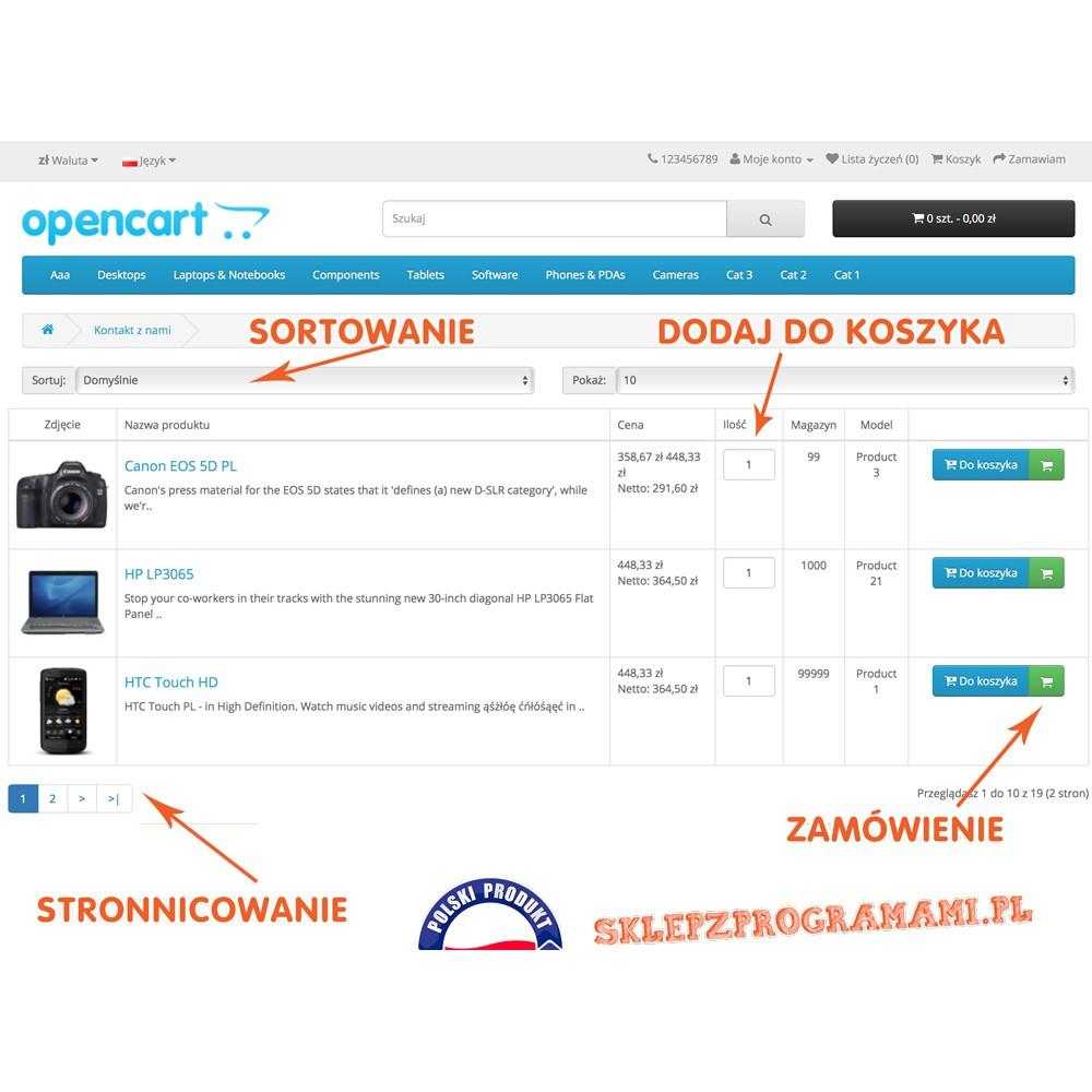 Szybko dodaj produkty do koszyka Opencart