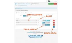 Rabat dla grupy klientów OpenCart 2