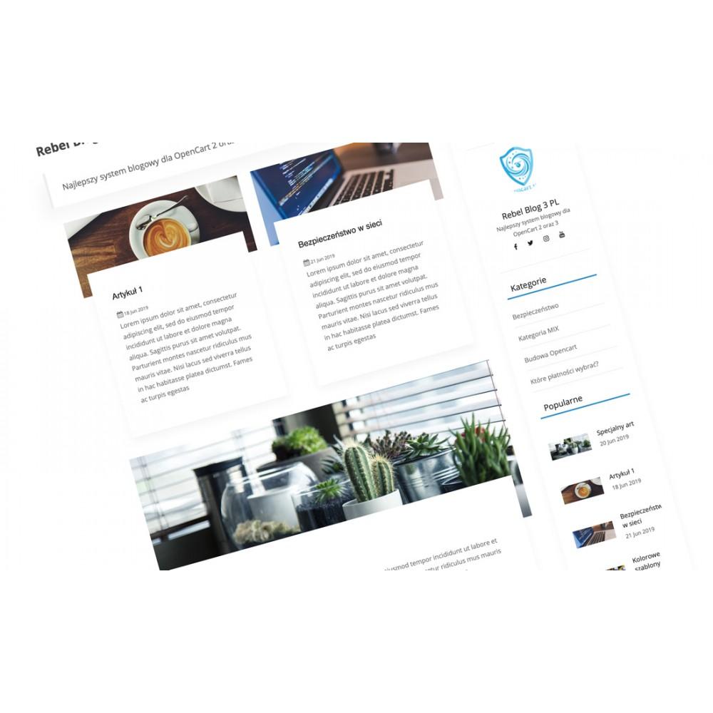 Blog CMS Opencart