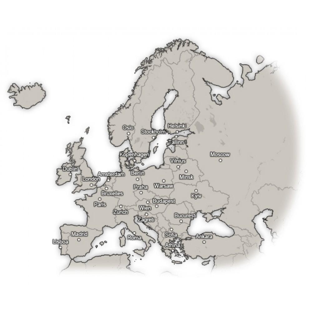Mapa Europy dla Joomla