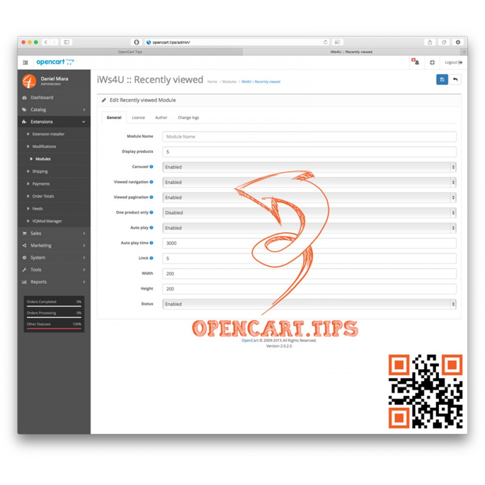 Ostatnio przeglądane produkty Opencart 2