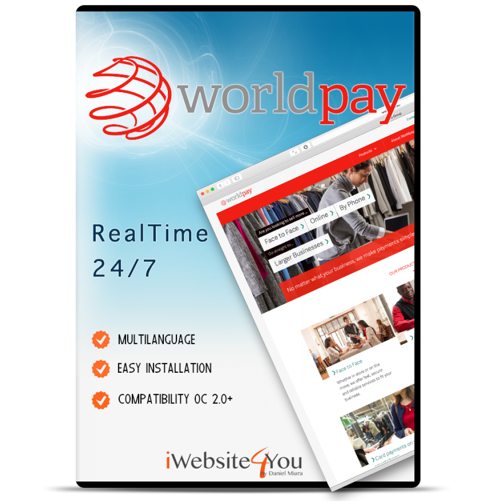 Prestashop 1.6 WorldPay Business Gateway